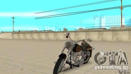 Harley Davidson FLSTF (Fat Boy) v2.0 Skin 3 для GTA San Andreas
