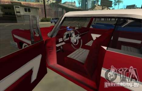 Plymouth Fury для GTA San Andreas вид сзади слева