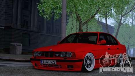 BMW 5-er E34 для GTA San Andreas вид справа