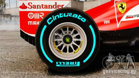 Ferrari F138 2013 v1 для GTA 4 вид изнутри