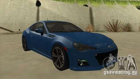 Subaru BRZ 2013 Tunable для GTA San Andreas вид слева