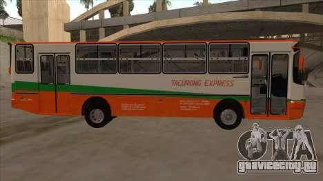 Tacurong Express 368 для GTA San Andreas вид сзади слева