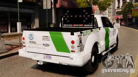Ford F-150 v3.3 Border Patrol [ELS & EPM] v3 для GTA 4 вид сзади слева
