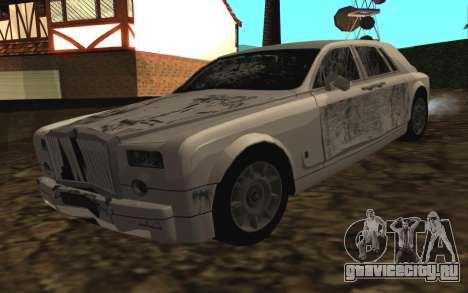 Rolls-Royce Phantom v2.0 для GTA San Andreas вид изнутри