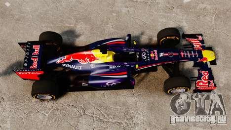 Болид Red Bull RB9 v2 для GTA 4 вид справа