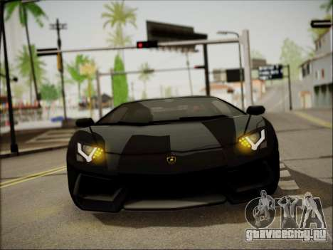 Lamborghini Aventador LP700 для GTA San Andreas вид изнутри