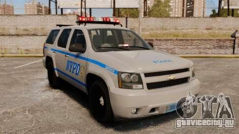 Chevrolet Tahoe 2007 NYPD [ELS] для GTA 4