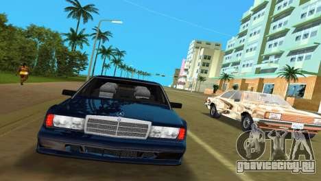 Mercedes-Benz 190E 1990 для GTA Vice City вид слева