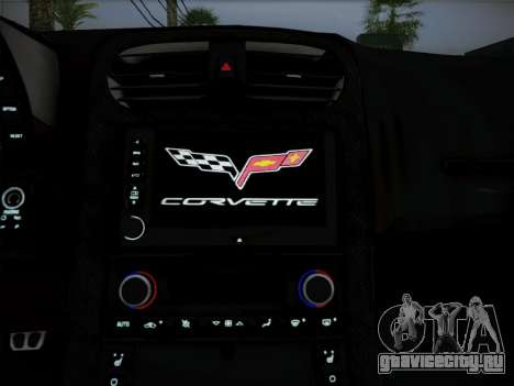 Chevrolet Corvette ZR1 2010 для GTA San Andreas вид изнутри