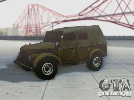 УАЗ 69А для GTA San Andreas салон