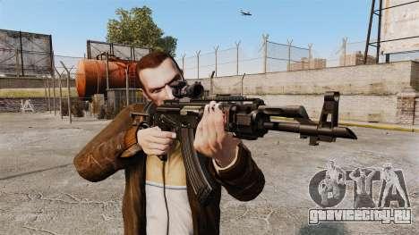 Автомат Калашникова AK-47 Sopmod для GTA 4 третий скриншот