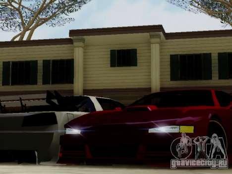 Infernus DoTeX для GTA San Andreas вид изнутри
