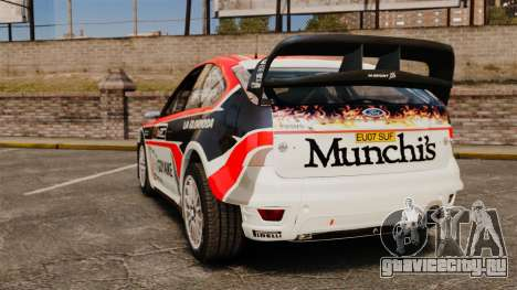 Ford Focus RS Munchis WRC для GTA 4 вид сзади слева