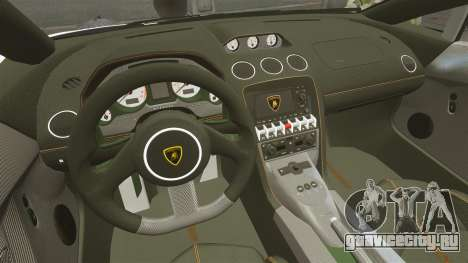 Lamborghini Gallardo LP570-4 Superleggera 2011 для GTA 4 вид сбоку