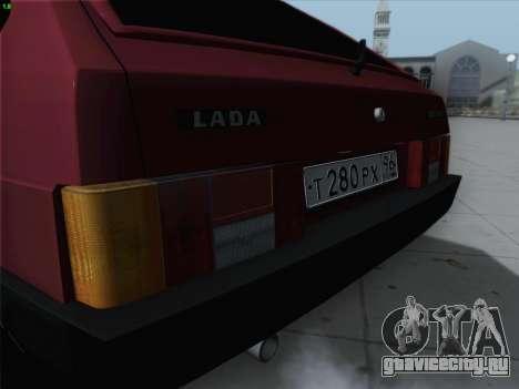 ВАЗ 21093i для GTA San Andreas вид сверху
