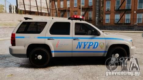 Chevrolet Tahoe 2007 NYPD [ELS] для GTA 4 вид слева