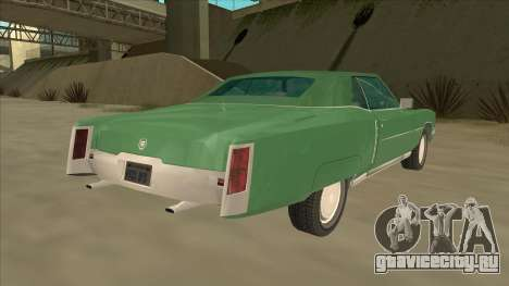 Cadillac Eldorado для GTA San Andreas вид сзади