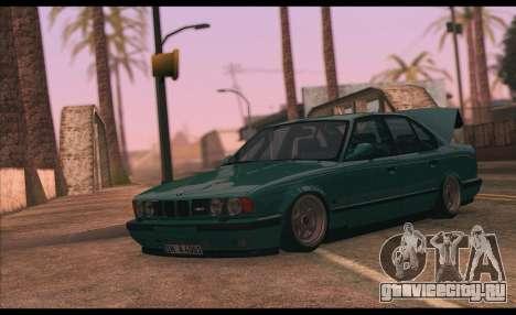 BMW 5-er E34 для GTA San Andreas вид сзади слева