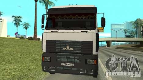 МАЗ 5440 для GTA San Andreas вид слева