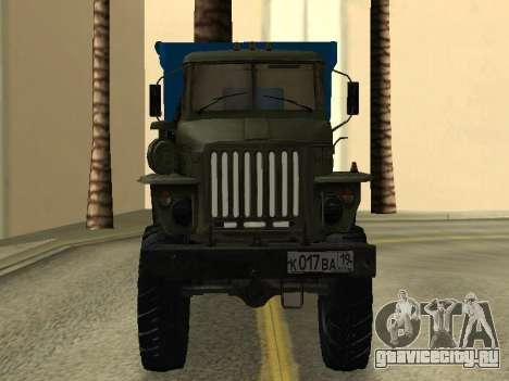 Урал 4320 Тонар для GTA San Andreas вид сзади