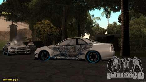 Nissan Skyline GTR 34 CIAY для GTA San Andreas вид справа
