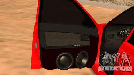 Lada 2170 для GTA San Andreas вид сзади слева