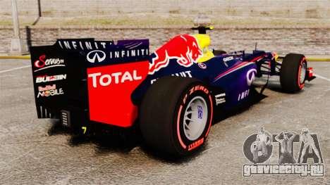 Болид Red Bull RB9 v6 для GTA 4 вид сзади слева
