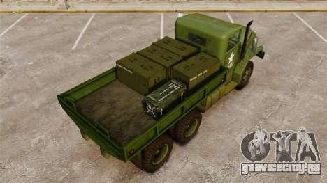 Базовый военный грузовик AM General M35A2 1950 для GTA 4 двигатель