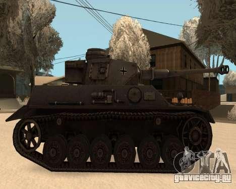 Panzerkampfwagen для GTA San Andreas вид сзади слева