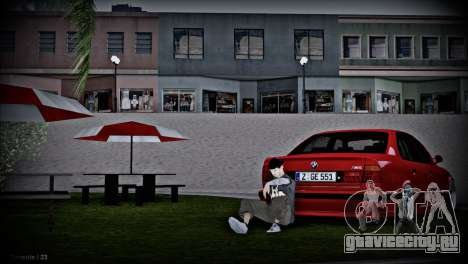 BMW 5-er E34 для GTA San Andreas вид изнутри