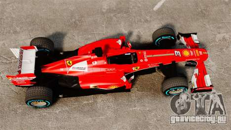Ferrari F138 2013 v1 для GTA 4 вид справа