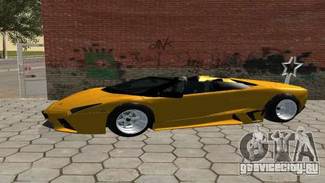 Lamborghini Reventon Shakotan для GTA San Andreas вид слева