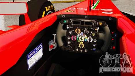 Ferrari F138 2013 v2 для GTA 4 вид изнутри