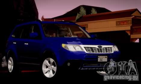 Subaru Forester XT 2008 v2.0 для GTA San Andreas вид сбоку