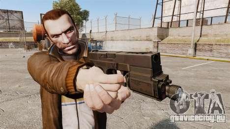 Тактический пистолет Glock 18 v1 для GTA 4 третий скриншот