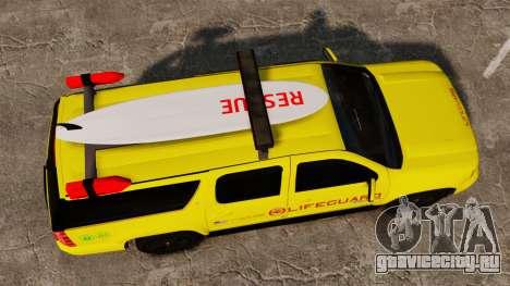 Chevrolet Suburban Los Santos Lifeguard [ELS] для GTA 4 вид справа