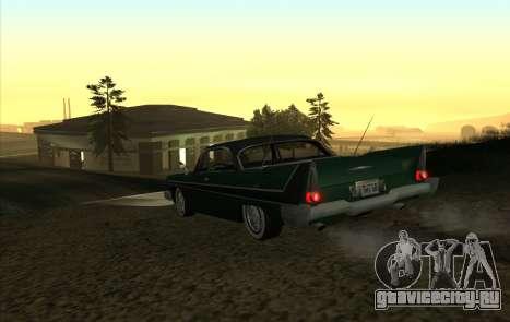 Plymouth Fury для GTA San Andreas вид справа
