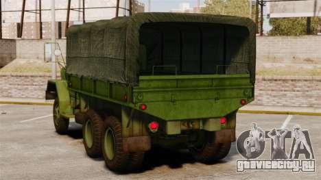 Базовый военный грузовик AM General M35A2 1950 для GTA 4 вид сзади слева