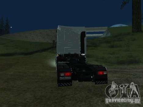 Renault Magnum для GTA San Andreas вид сзади слева