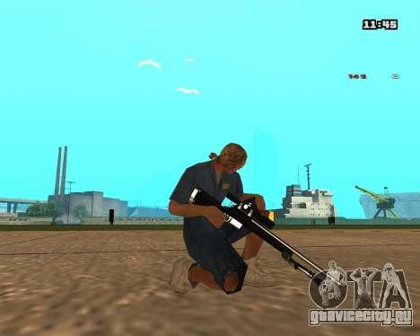 White Chrome Sniper Rifle для GTA San Andreas