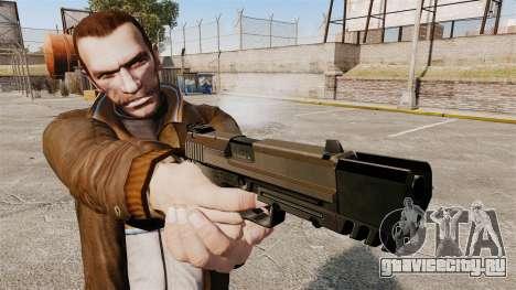 Самозарядный пистолет H&K USP v2 для GTA 4 третий скриншот