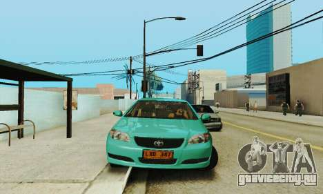 Toyota Corolla City Mastercab для GTA San Andreas вид сзади