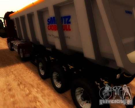 Полуприцеп Schmitz Cargo Bull для GTA San Andreas вид сзади слева