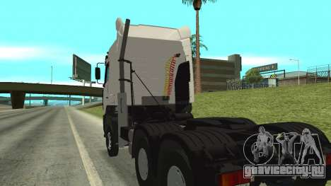 МАЗ 5440 для GTA San Andreas вид изнутри