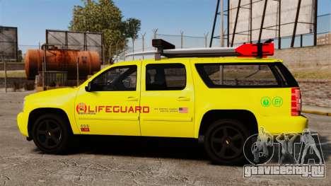 Chevrolet Suburban Los Santos Lifeguard [ELS] для GTA 4 вид слева