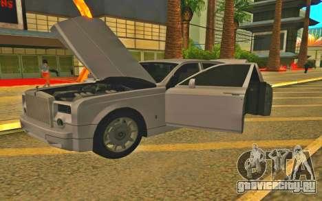 Rolls-Royce Phantom для GTA San Andreas вид сзади слева