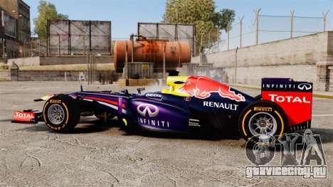 Болид Red Bull RB9 v2 для GTA 4 вид слева