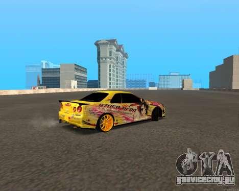 Nissan Skyline R34 Azusa Mera для GTA San Andreas вид сзади слева