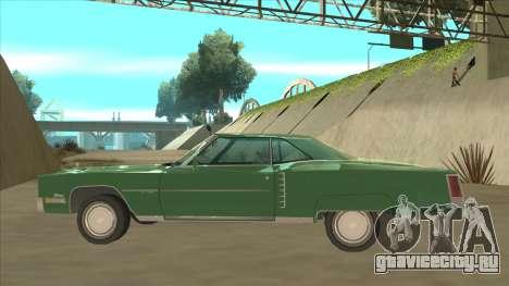 Cadillac Eldorado для GTA San Andreas вид сзади слева