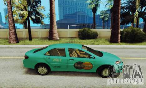Toyota Corolla City Mastercab для GTA San Andreas вид слева